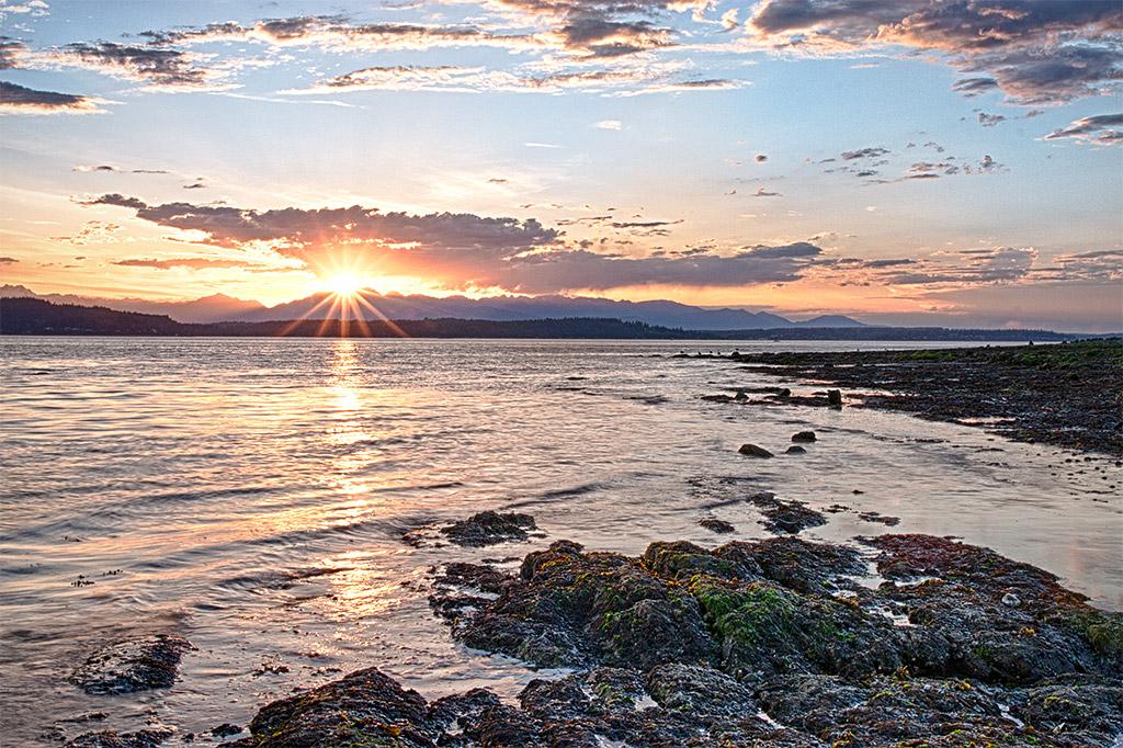 Alki Beach West Seattle Sunset