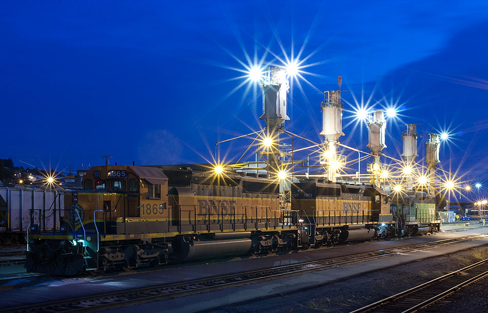 BNSF Locomotive at Balmer Rail Yard
