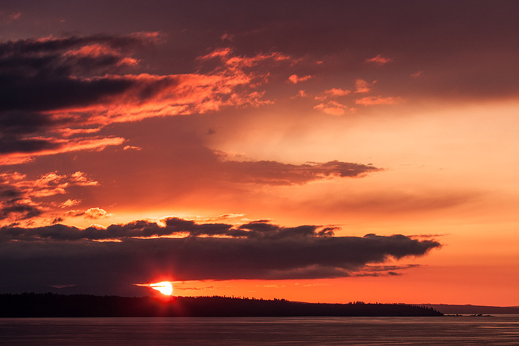 Waterfront Sunset in Edmonds, Washington