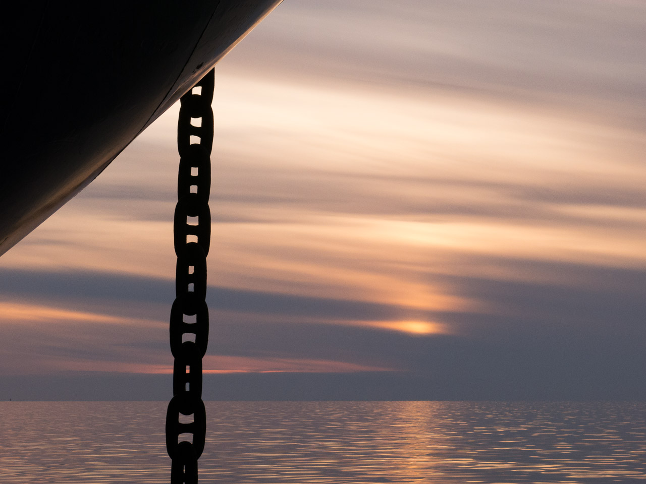 Barge Anchor Chain. Kotzebue Sound. Alaska.