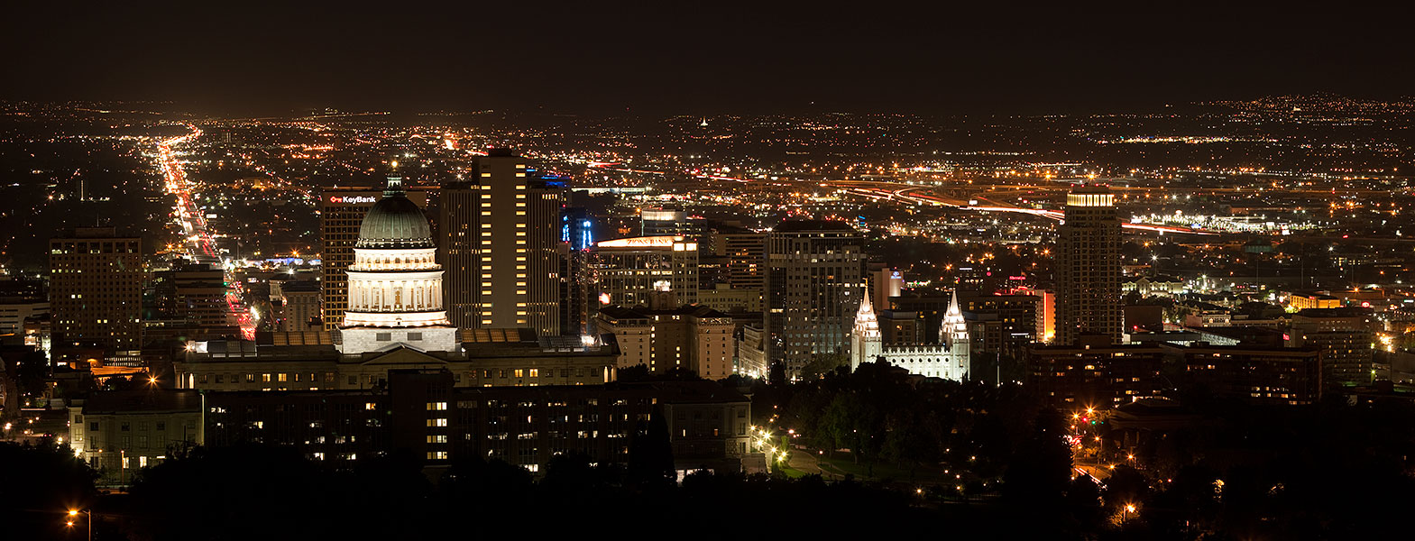 Salt Lake City Skyline at Night