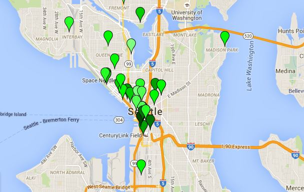 Seattle area SEO companies map - Cory Bagley | Official Home Page