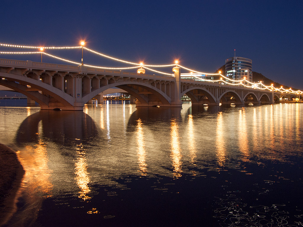 Tempe Town Lake in Tempe Arizona