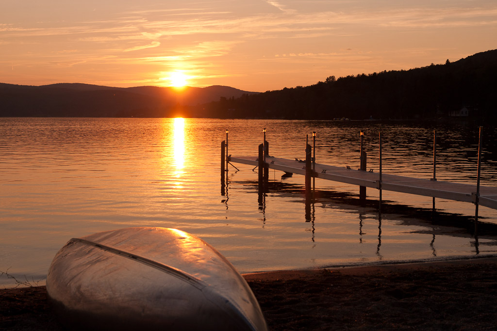 lake wallace sunset - canaan vermont